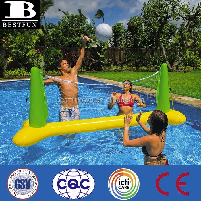 promotional custom made pvc inflatable volleyball pool game set kids water volleyball set
