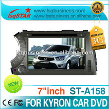 Car audio player DVD for Ssangyong Kyron with GPS 3G MP3 MP4 Bluetooth,ST-A158