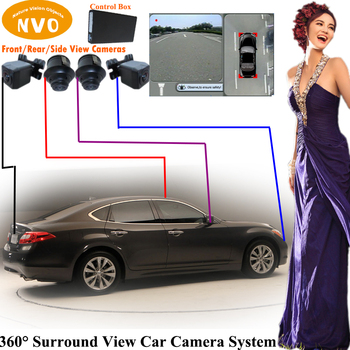 Around view camera system rear view reverse backup camera system with digital video recorder function for Infiniti M37