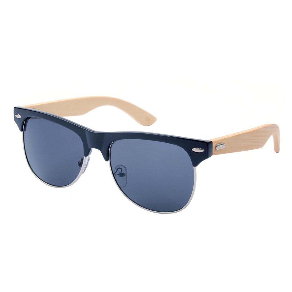91969482f8 Will Power mirror half frame round rimless sun glasses bamboo sunglasses