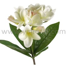 Whole sale artificial frangapani flower real touch plumeria for wedding decoration