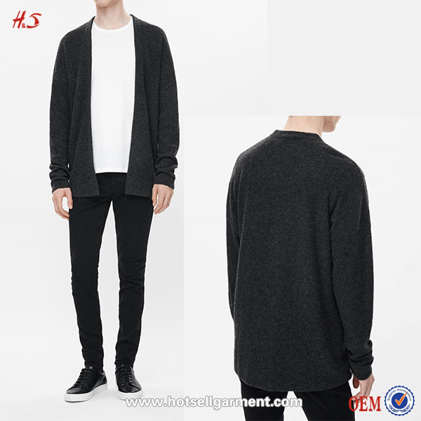 Alibaba New Fashion High Quality Latest Black Long Sleeves Man Cashmere Sweater Designs For Men