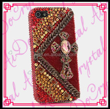 Aidocrystal italian Red rhinestone cell phone cases for LG Mytouch E739 crystal case cover