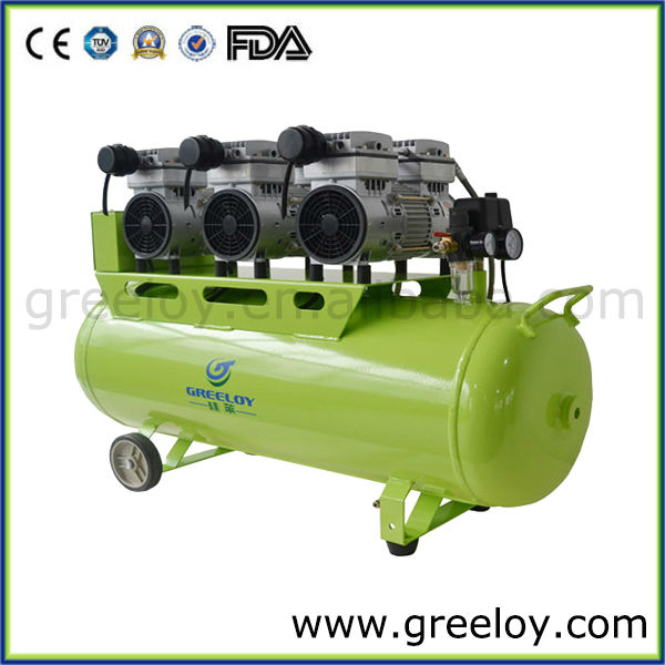 2400W Three Motor Piston Oil Free Direct Driven Quiet Oil free Air Compressor