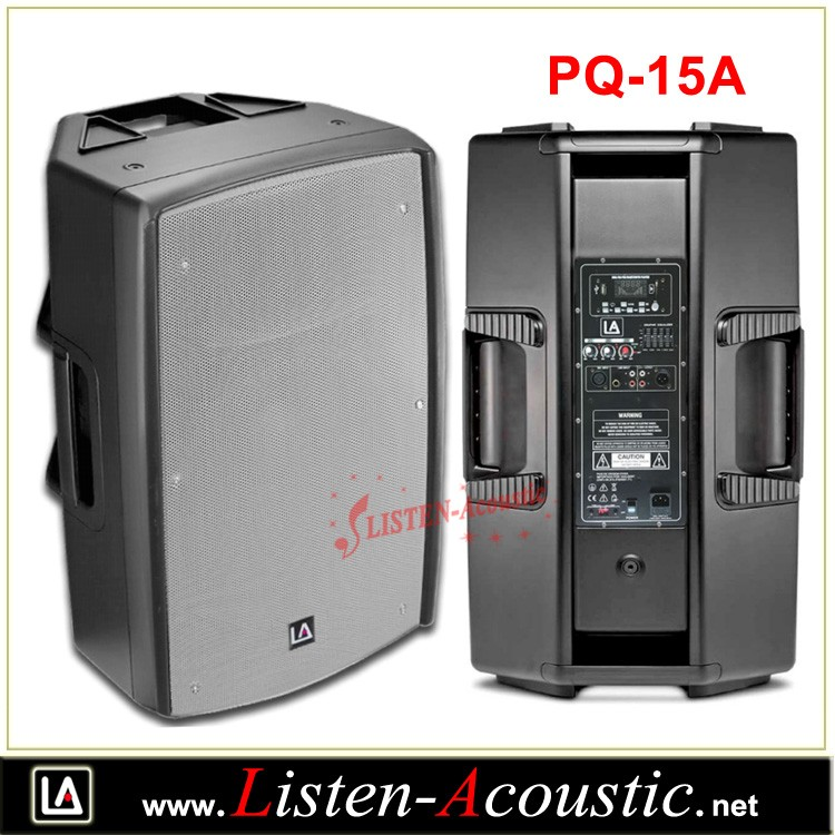 15 inch active portable powered outdoor speaker box PQ-15A