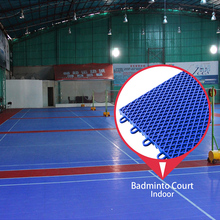 Best price mat construction outdoor portable new type pp synthetic badminton court flooring material