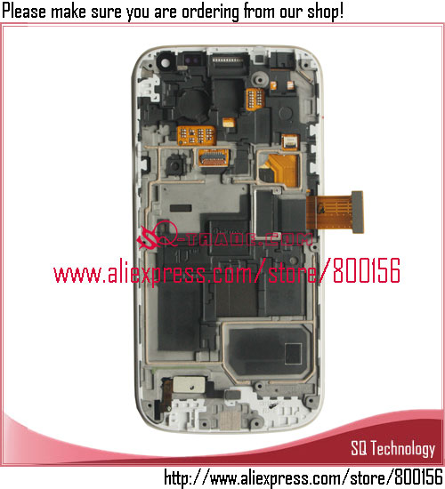 Alibaba China For Samsung S4 Mini LCD With Touch Screen Asssembly With Frame Blue