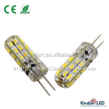 AC/DC12V silica glue G4 LED Light 1.5W 3014SMD 110LM