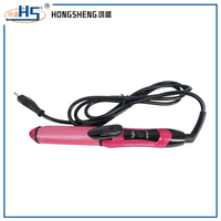 2 in1 magic hair dryer straightener with velcro hair curler