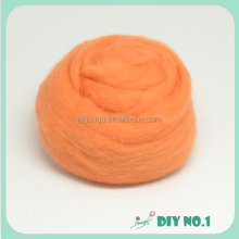 Raw wool tops washed lamb wool fabric roving