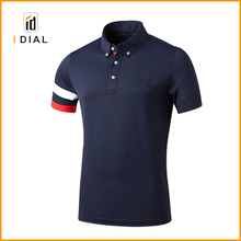 Sleeve stripes 2017 new design comportable feeling polo shirts for men 100% cotton