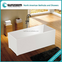 SUNZOOM UPC/cUPC certified rectangular hot sex family spa tub, small square bathtub, mini bathtub china wholesale