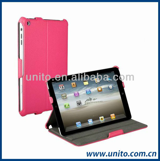 slim-fit folio stand smart cover for ipad mini case rose red