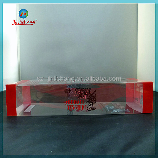 high quality retail transparent plastic hair extension packaging box