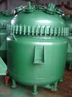 polymer glass lined steam heating mixing tank reactor