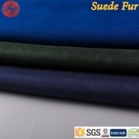Polyester Faux Leather Micro Suede Fabric