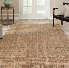 Conference Room Bedroom Sisal Wool Hotel Project Hand Tufted Carpet