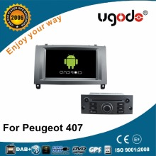 Android HD touch screen 3G wifi double din car dvd player for Peugeot 407