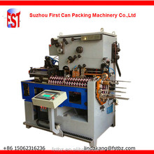 Automatic seam welding machine for round tin cans