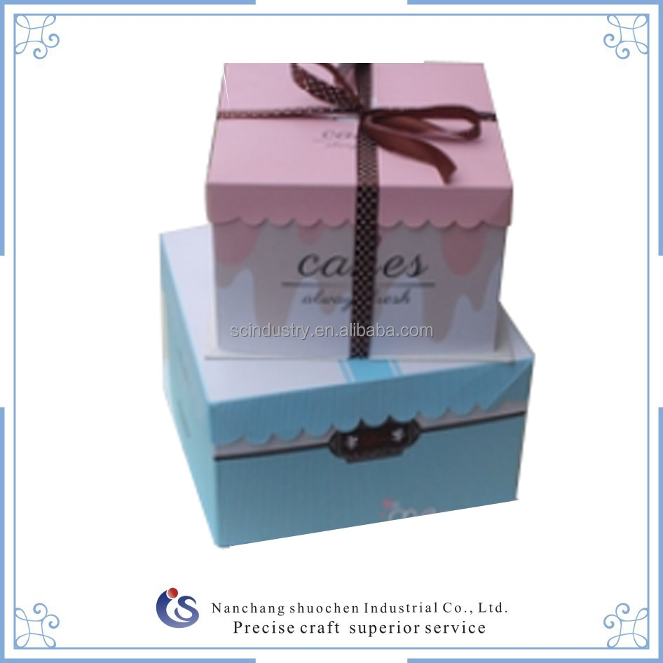 Food packaging recycled material s square paper cake box