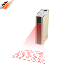 Portable 5200mAh built in battery virtual laser wireless infrared keyboard with Power Bank Function