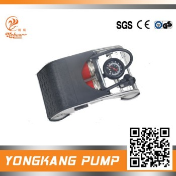 Double cylinders foot pump high pressure for motor cyclie, bicycle economic price