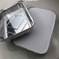 USA popular 310*213*50mm durable Biodegradable 2000ml disposable aluminum foil hot/cold food storage packing containers