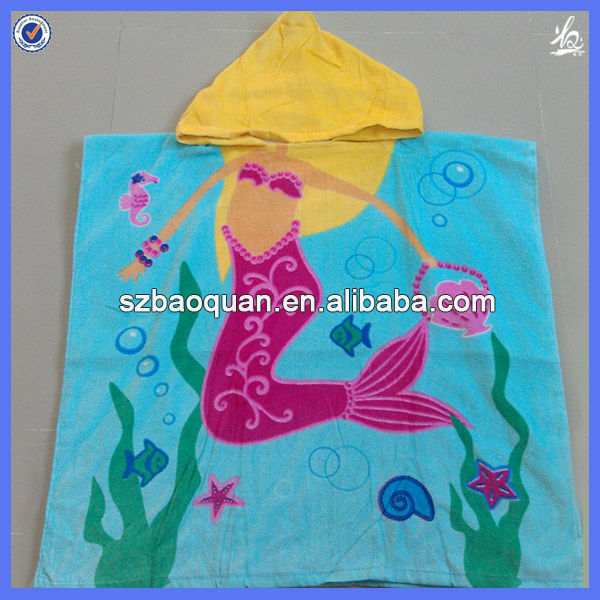 100 cotton baby hooded towel baby bath cloth baby beach cloth