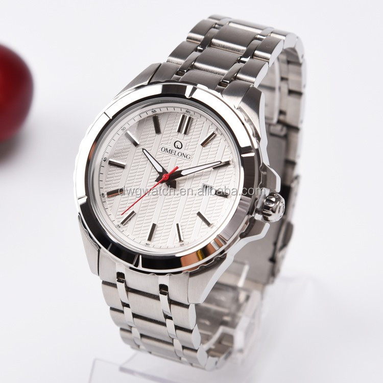 Trade Assurance Good quality 5 atm water resistant quartz stainless steel watch