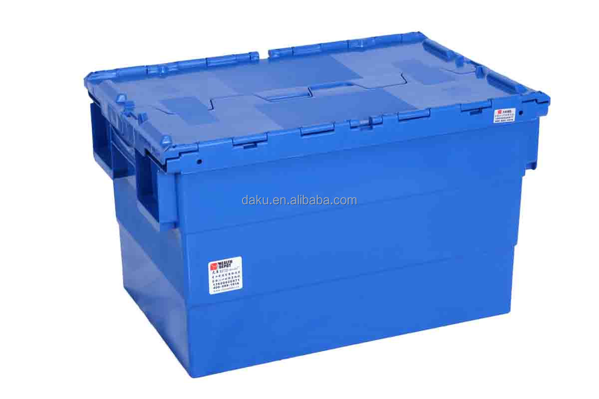 600x400x365mm Plastic Heavy Duty Storage Bins with Lids