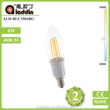New Design led lamp 4W 400lm E14 220V AC LED Filament Candle Bulbs 360 Degree 6Pcs Per Lot corn bulb