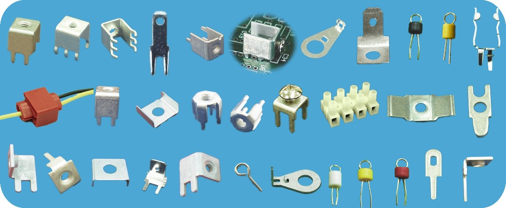 vinyl-insulated extrusion sleeve Insulated Pin Terminals P.C.B TERMINAL flat pin terminal Terminals Connectors
