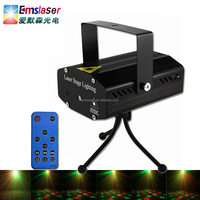 Hot sale 6 patterns effect remote control mini laser stage lighting projector for christmas