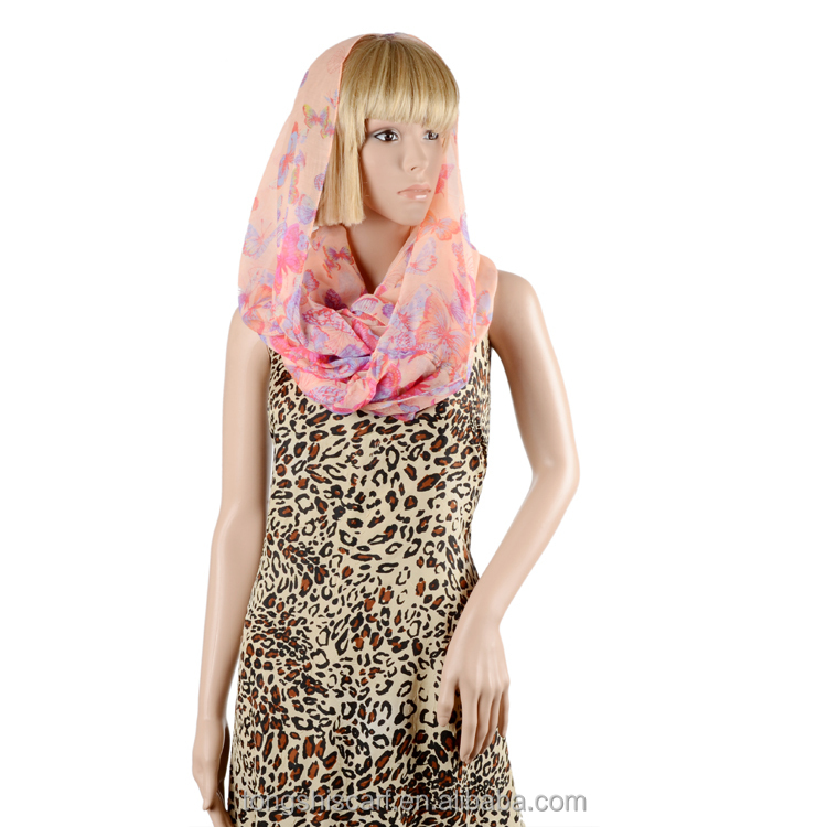 new 2016 polyester voile scarf fashion print voile scarf HI302 916-3 shawl and scarves supplier alibaba china