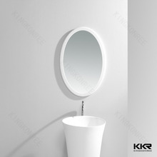 Smart bathroom mirror oval hotel vanity mirror
