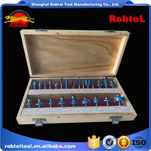 24 pcs router bit set Shank 12mm Tungsten Carbide Woodworking milling cutter Kit CNC Carved Engraving