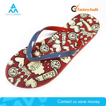 eco friendly rubber strap non slip close toe flip flop