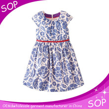 fancy casual girls cotton summer dress costumes for kids