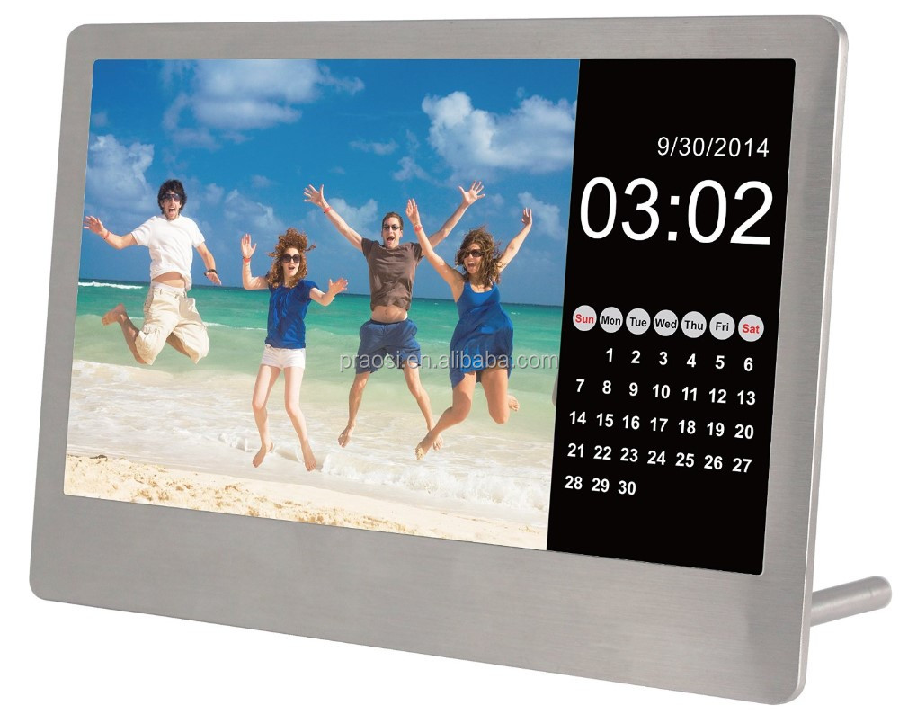 10''/ 10.4'' digital photo picture video frame mp3 mp4 hot video free download with SD card and USB
