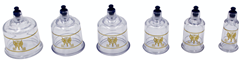 "OEM"" HANSOL"" cupping hijama cups!Olympics Cupping Therapy Equipment Set with pumping handle 19 Cups & English Manual FDA/CE"