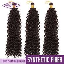 Alibaba Express Pre-loop 3x Deep Synthetic Afro Twist Braid For Afro Kinky Curly Water Wave Braiding Hair Extension