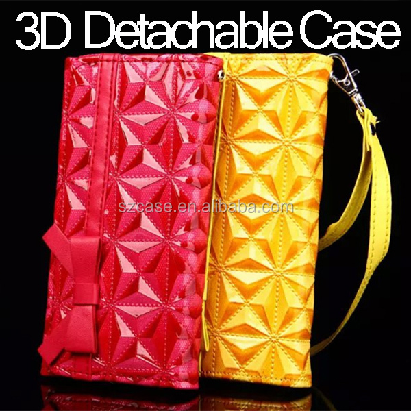 3D Diamond Case For Iphone 6 , PU Leather Cell Phone Case For Iphone6 plus