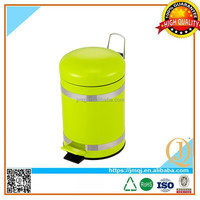 stainless steel foot pedal dustbin rubber painted household dustbin with pedal