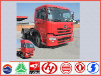 Japanese tractor truck supplier for nissan tractor head 4*2 390hp sale in tata