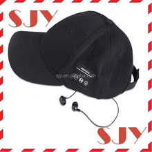 Wholesale 6 panel wireless music bluetooth baseball cap Running Headphones Bluetooth Hats