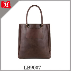 top grain leather bags woman custom fashion shopping tote bag cotton lining jute blank tote bag