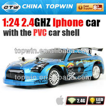 1:24 2.4GHZ I-phone controled solar power toy car the PVC car shell