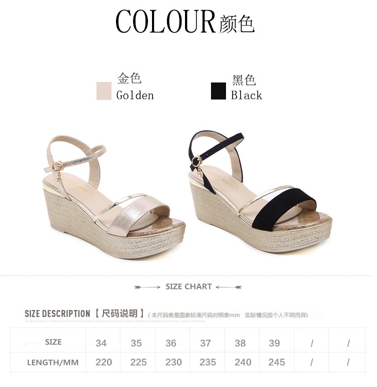 summer hot-selling beautiful ladies wedges open-toes soft sandals 2017 new arrival