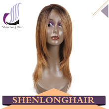 Brazilian Virgin Remy Ombre Blonde Human Hair Two Tone Front Lace Wig