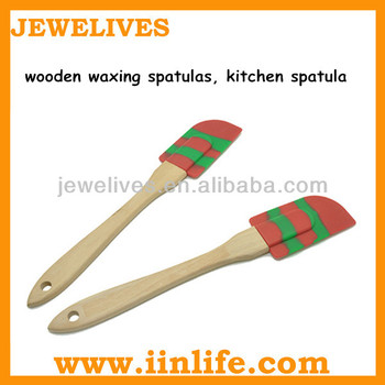 Durable and recyclable wooden waxing spatulas